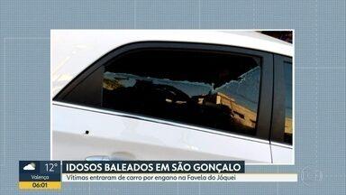 Idosos são baleados em São Gonçalo - Vítimas entraram de carro, por engano, na Favela do Jóquei; três foram baleados e estão no Hospital Alberto Torres