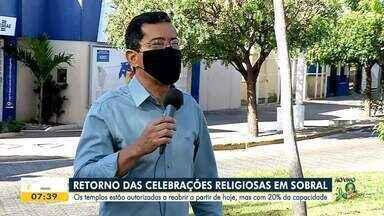Celebrações religiosas estão liberadas em Sobral - Saiba mais em: g1.com.br/ce