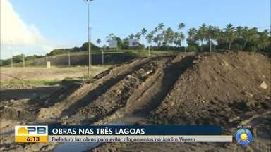 Obras nas Três Lagoas é feita para evitar alagamentos, em João Pessoa - Prefeitura faz obras