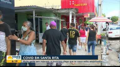 População é negligente e município de Santa Rita se encontra na bandeira laranja - Muitas pessoas estão nas ruas sem máscara