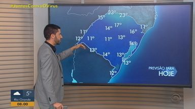 Instabilidade e frio atingem o RS nesta quarta-feira (12) - Chuva segue nos próximos dias no Estado.