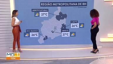 Aumento de umidade provocou chuvisco em Belo Horizonte - Umidade do ar ficou mais alta, hoje, na capital. Amanhã ela pode voltar a cair.