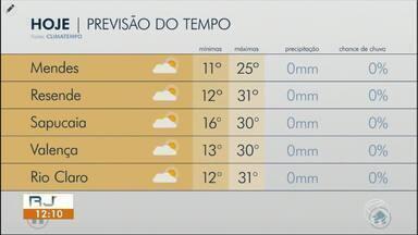 Meteorologia prevê tempo seco e quente nesta quarta-feira no Sul do Rio - Massa de ar seco impede a formação de nuvens de chuva. Mudança é esperada a partir de domingo.