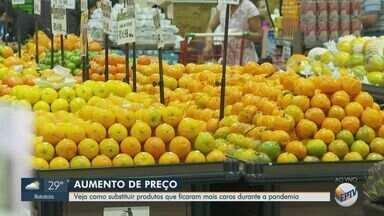 Preço de alimentos dispara nos supermercados - Houve aumento no valor do arroz, feijão, leite, carne, pão e outros itens básicos para o consumidor.