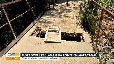 Moradores de Maracanaú reclamam de insegurança na estrutura de ponte - Saiba mais no g1.com.br/ce