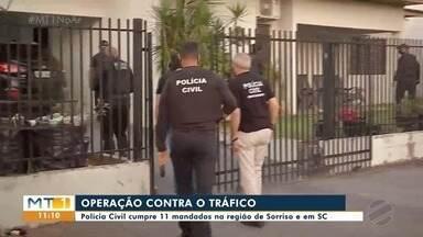 Polícia Civil cumpre 11 mandados na região de Sorriso e em SC - Polícia Civil cumpre 11 mandados na região de Sorriso e em SC.