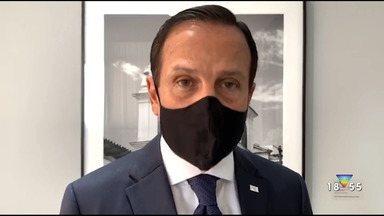 Governador João Dória diz que testou positivo para o coronavírus - Ele afirma estar sem sintomas