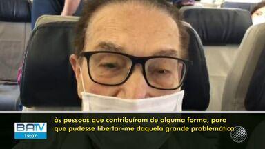 Divaldo Franco chega nesta quarta-feira à Salvador e fala sobre cirurgia em São Paulo - Confira o que diz o líder espírita.