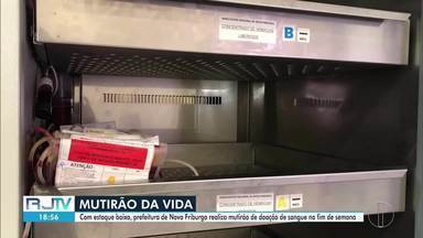 Prefeitura de Nova Friburgo, RJ, realiza mutirão de doação de sangue no fim de semana - Estoque está baixo no município.