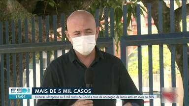 Linhares, ES, ultrapassa os 5 mil casos de Covid-19 - Confira na reportagem.