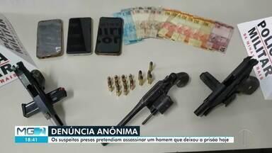Cinco homens são presos em Governador Valadares com armas e veículo furtado - Segundo a Polícia Militar, eles pretendiam assassinar um homem que deixou a prisão.