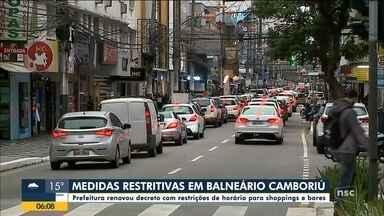 Balneário Camboriú renova decreto com restrições de horário para shoppings e bares - Balneário Camboriú renova decreto com restrições de horário para shoppings e bares