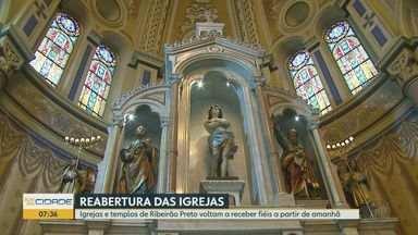 Igrejas de Ribeirão Preto, SP, voltam a receber fieis a partir de sexta-feira (14) - Templos deverão seguir regras de prevenção de contágio da Covid-19.