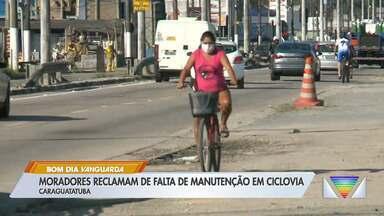 Moradores reclamam de falta de manutenção em ciclovia de Caraguá - Problema ainda não foi resolvido