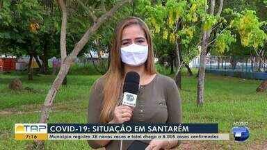 Santarém ultrapassa marca de 8 mil infectados pelo coronavírus - Dos 8.005 casos confirmados de covid-19, 7.177 estão recuperados, 51 pacientes estão internados e 432 pessoas estão em isolamento domiciliar.