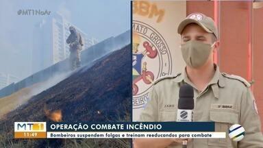 Bombeiros suspendem folgas e treinam reeducandos para combate a incêndios - Bombeiros suspendem folgas e treinam reeducandos para combate a incêndios.