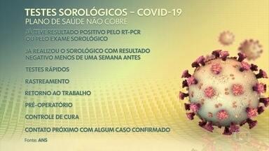 Coronavírus: ANS decide que convênios têm de cobrir teste sorológico - Decisão vale para o exame que detecta anticorpos da doença e foi tomada em reunião composta pela diretoria da Agência Nacional de Saúde Suplementar. Medida passa a valer a partir desta sexta-feira (14).