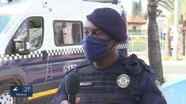 Guarda municipal se queixa de injúria racial, em Contagem - O suspeito das ofensas estava numa fila da Caixa e se negou a usar a máscara de proteção, conforme determina decreto municipal.