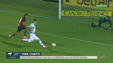 Rafael Carioca marca no fim, e Vitória arranca empate contra a Ponte Preta - Time baiano sai na frente, mas Macaca domina, empata e até abre vantagem de um gol; Rubro-Negro consegue empate aos 44.
