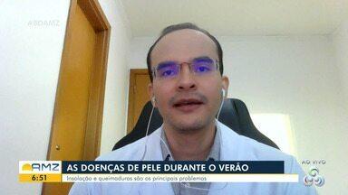 Dermatologista alerta para cuidados com a pele durante o verão amazônico - Segundo Andrey Amorim, as pessoas precisam evitar a exposição solar direta.