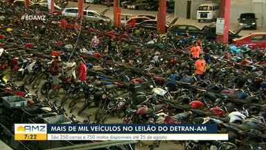 Detran-AM deve leiloar mais de mil veículos - São maus de 250 carros e 750 motos disponíveis até 25 de agosto.