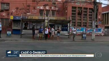 Moradores de Duque de Caxias reclamam de linhas de ônibus que desapareceram - Passageiros denunciam também que algumas linhas reduziram a frota.