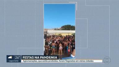 Festas clandestinas desrespeitam lei de isolamento social em BH e em várias cidades - Flagrantes assustam durante a pandemia.