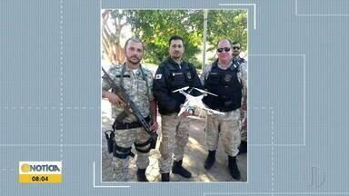 Drone é apreendido sobrevoando penitenciária de Governador Valadares - Policiais penais atiraram contra equipamento, que caiu e foi apreendido.