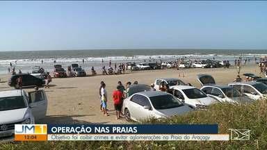 MP realiza operação para coibir aglomerações em praias da Região Metropolitana da capital - Segundo o MP, a população estava fazendo festas que entravam pela madrugada nas praias.