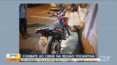 Operação apreende drogas e armas em três municípios na Região Tocantina - Operação tem como objetivo reduzir a criminalidade na região.