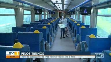 Trem de passageiros da Vale retoma viagens do Maranhão até o Pará - Medidas sanitárias foram tomadas para evitar contaminações durante as viagens.