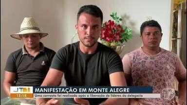 Manifestantes que cobram melhorias em avenida de Monte Alegre se defendem de acusações - Caso foi parar na delegacia após o comandante da balsa que foi invadida