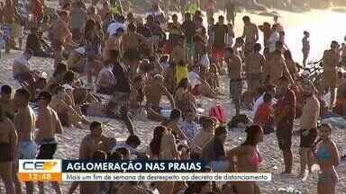 População desrespeita distanciamento social em praias de Fortaleza - Saiba mais em g1.com.br/ce