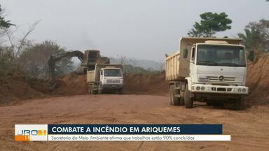 Combate a incêndio em Ariquemes - Secretaria de meio ambiente afirma que trabalhos estão 90% concluídos.