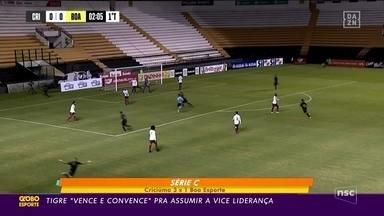 Criciúma estreia camisa e vence na Série C - Criciúma estreia camisa e vence na Série C