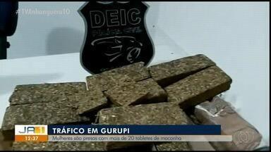 Mulheres são presas por tráfico interestadual de drogas após flagrante em Gurupi - Mulheres são presas por tráfico interestadual de drogas após flagrante em Gurupi