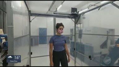 Pesquisadores da Ufla desenvolvem versão econômica de cabine para desinfecção humana - Pesquisadores da Ufla desenvolvem versão econômica de cabine para desinfecção humana em Lavras