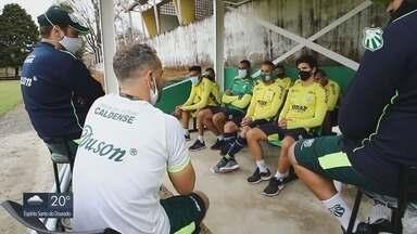 Elenco se reapresenta na Caldense e preparação para a Série D do Brasileiro tem início - Elenco se reapresenta na Caldense e preparação para a Série D do Brasileiro tem início