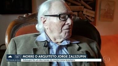Arquiteto Jorge Zalszupin morreu aos 98 anos - Trabalho de Zalszupin é considerado marco na arquitetura modernista brasileira.