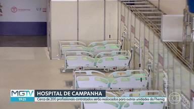 Governo anuncia realocação de funcionários do hospital de campanha, no Expominas - Funcionários, que começariam a trabalhar nesta segunda (17), foram surpreendidos pela notícia.