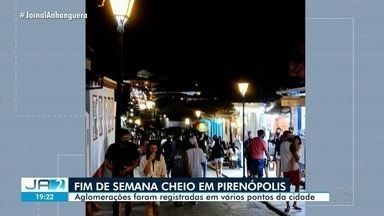 Pirenópolis registra aglomerações no primeiro final de semana após reabertura - Situações foram registradas em vários pontos da cidade.