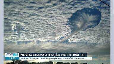 Nuvem chama atenção no litoral Sul do ES - Confira na reportagem.