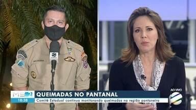 Comitê Estadual continua monitorando queimadas na região pantaneira - Comitê Estadual continua monitorando queimadas na região pantaneira
