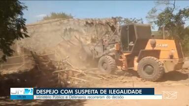 Justiça determina o despejo de famílias em comunidade rural de Balsas - Segundo a Defensoria Pública, há indícios de ilegalidade no processo.