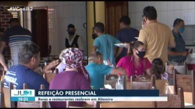 Bares e restaurantes reabrem em Altamira - Bares e restaurantes reabrem em Altamira
