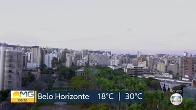 Confira a previsão do tempo para todo o estado nesta terça-feira (18) - Massa de ar quente está atuando em todas as regiões de Minas Gerais e temperaturas seguem elevadas.