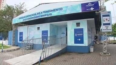Governo da Bahia cria 'gripários' para separar pacientes com sintomas da Covid-19 - Desde o começo da pandemia, 228 pessoas morreram com suspeita de Covid-19 na Bahia, muitas por medo de ir ao hospital.