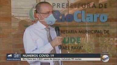 Rio Claro tem o 99º óbito por Covid-19 - O município totaliza 3.481 casos, com 50 confirmações nas últimas 24 horas, de acordo com boletim divulgado pela Secretaria de Saúde.