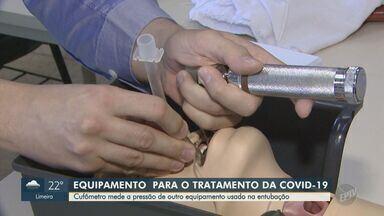 Equipamento digital mede pressão de aparelho usado na entubação de pacientes com Covid-19 - O cufômetro pode auxiliar no tratamento de casos graves de coronavírus. Pesquisadores da UFSCAR estão em contato com empresas para que o equipamento seja produzido e comercializado.
