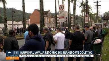 Prefeitura de Blumenau avalia retorno do transporte coletivo - Prefeitura de Blumenau avalia retorno do transporte coletivo